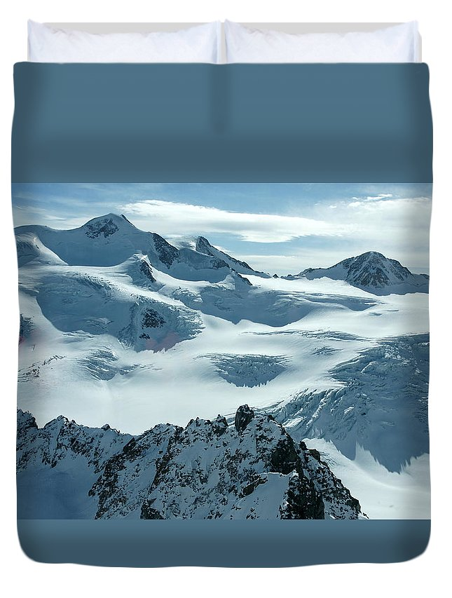 Pitztal Glacier Duvet Cover featuring the photograph Pitztal Glacier by Olaf Christian