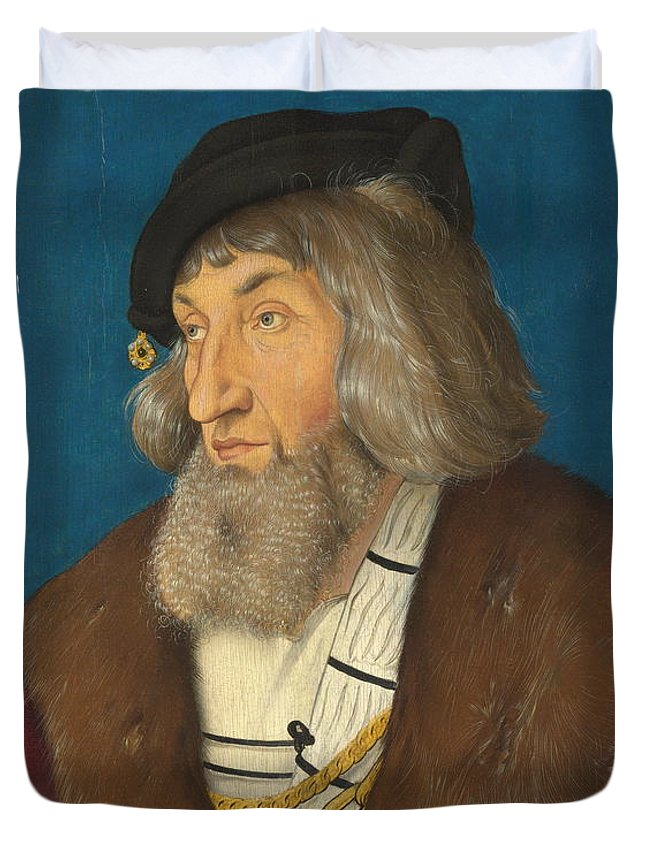 Bearded Duvet Cover featuring the painting Portrait Of A Man by Hans Baldung Grien
