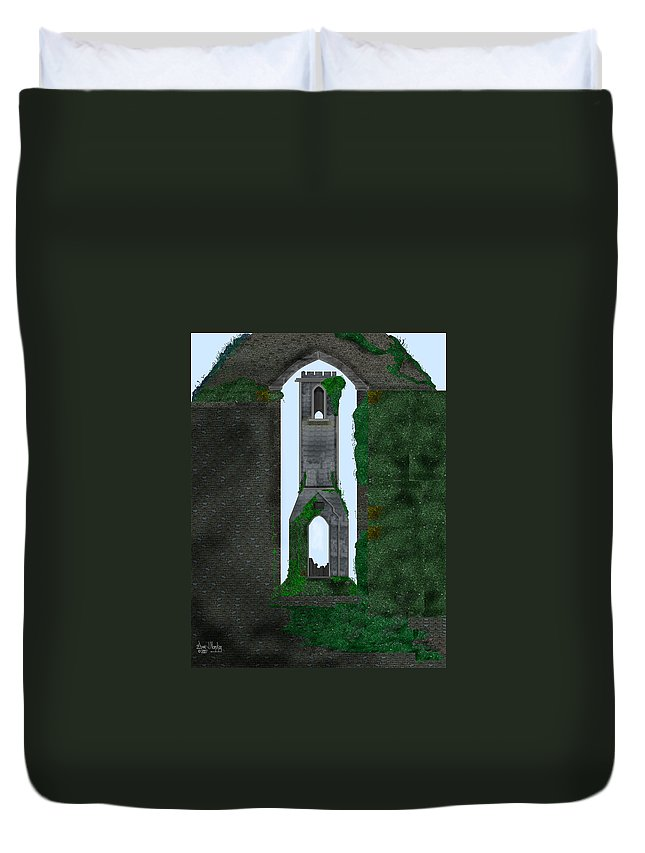 Ireland Duvet Cover featuring the painting Quint Arches In Ireland by Anne Norskog