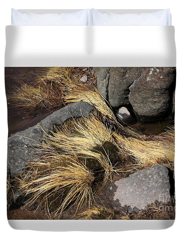 Rocks Duvet Cover featuring the photograph Remnants by Rick Rauzi