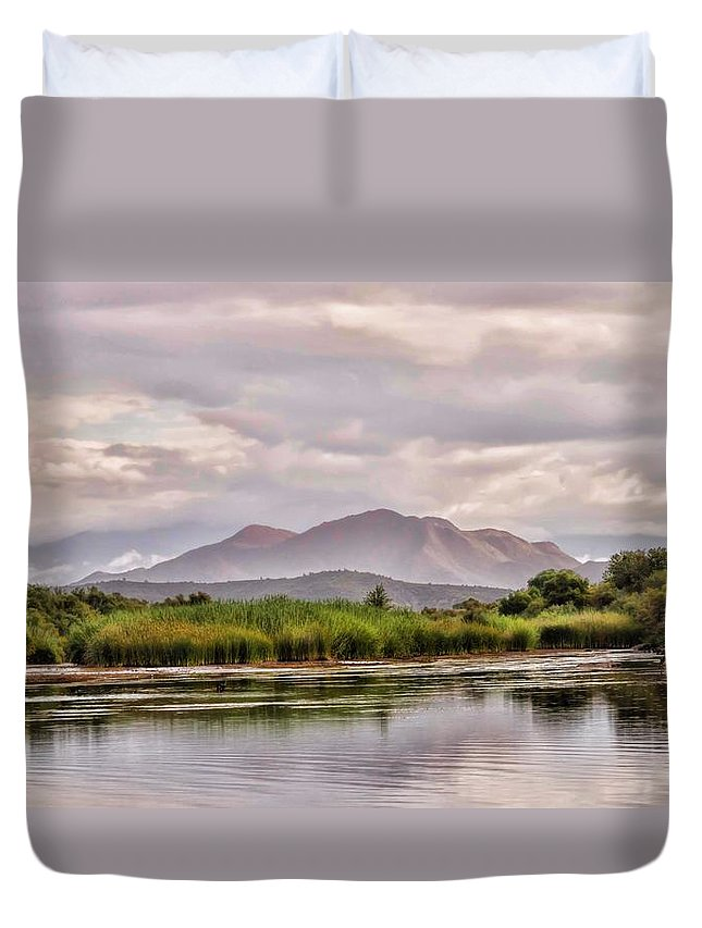 River Duvet Cover featuring the photograph Salt River by Robin O'Donnell