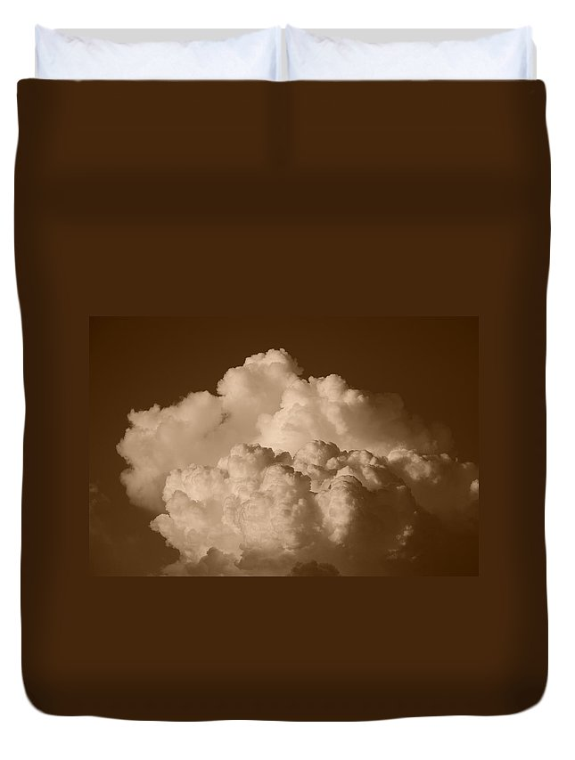 Sepia Duvet Cover featuring the photograph Sepia Clouds by Rob Hans
