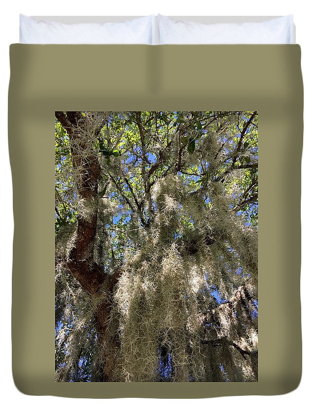 Spanish Moss Duvet Cover featuring the photograph Spanish Moss by Kathy Kirkland