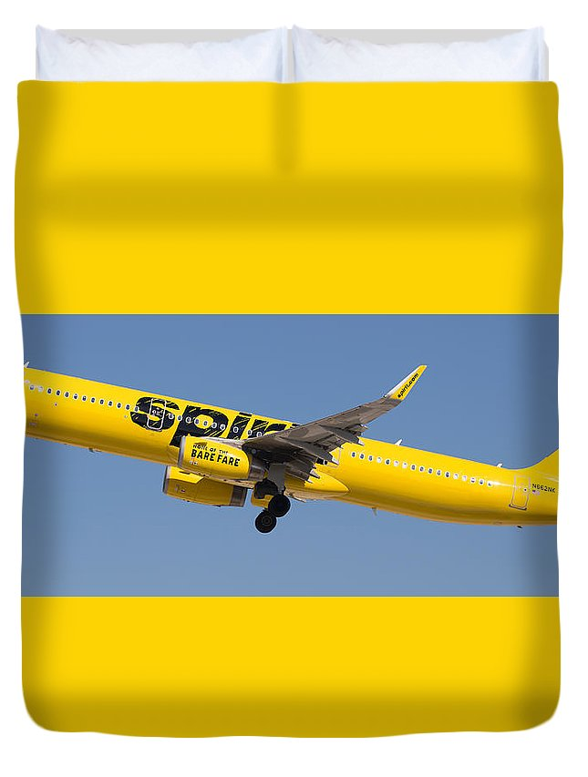 Spirit Duvet Cover featuring the photograph Spirit Airline by Dart and Suze Humeston