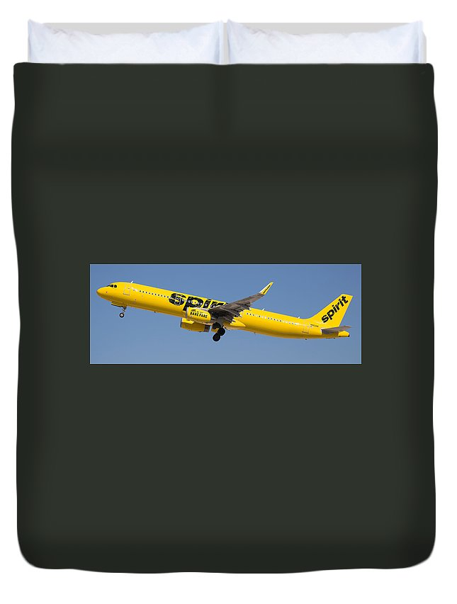 Spirit Duvet Cover featuring the photograph Spirit Airline by Dart Humeston