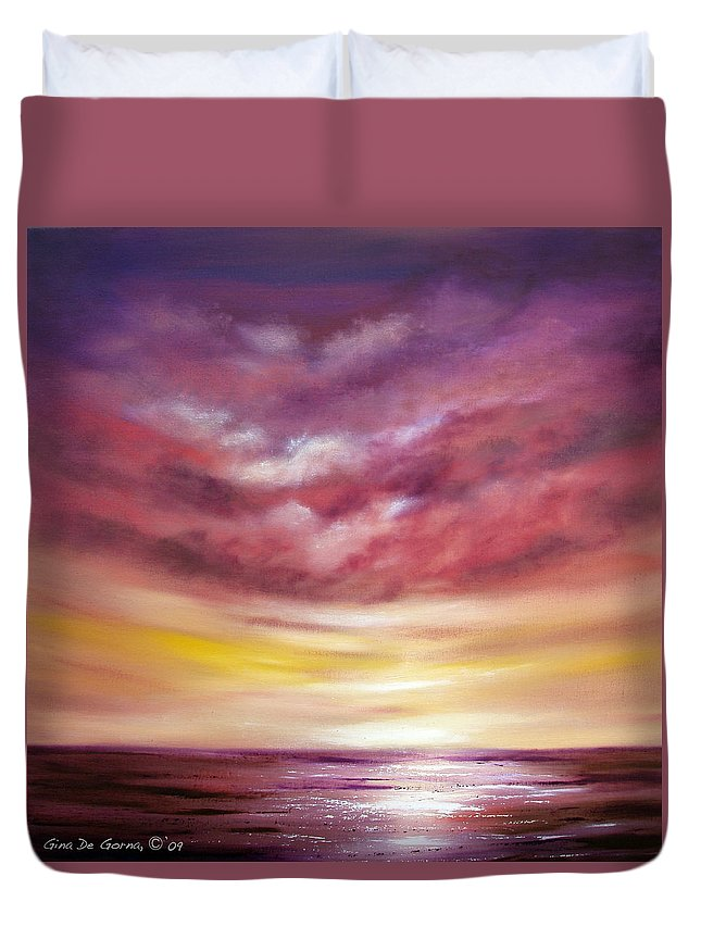 Square Duvet Cover featuring the painting Splendid by Gina De Gorna