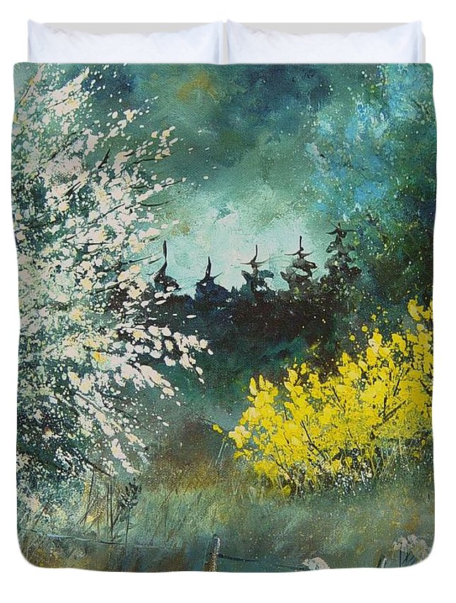 Spring Duvet Cover featuring the painting Spring by Pol Ledent