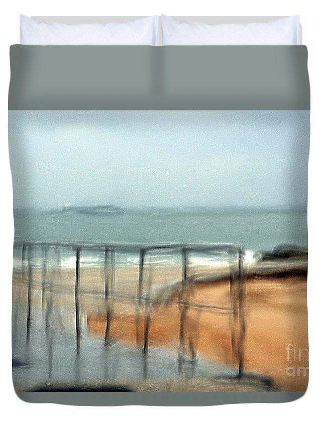 Storm Duvet Cover featuring the photograph Stormy Seas by Vladi Alon