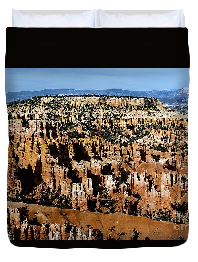 Sunset Point Duvet Cover featuring the photograph Sunset Point by Yefim Bam