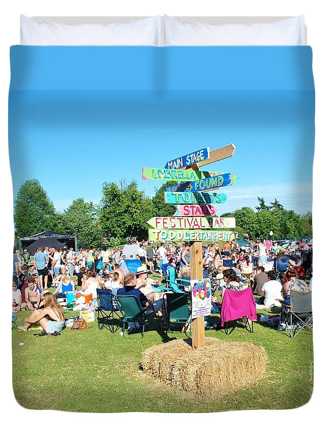 Tentertainment Duvet Cover featuring the photograph Tentertainment Music Festival 2015 by David Fowler