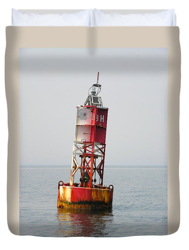 Bell Duvet Cover featuring the photograph The Bell Buoy by Charles Harden