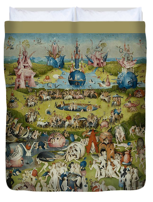 Bosch Duvet Cover featuring the painting The Garden Of Earthly Delights by Hieronymus Bosch