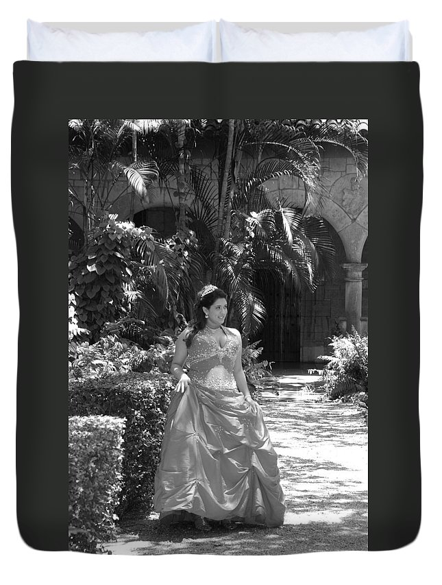 Girl Duvet Cover featuring the photograph The Princess by Rob Hans