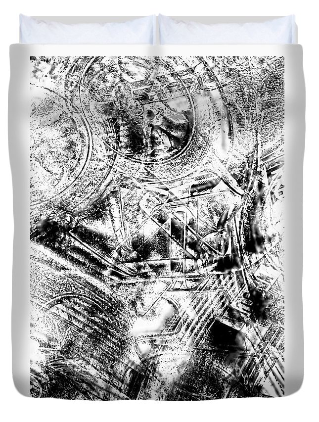 Abstract Duvet Cover featuring the photograph The Web by Tom Gowanlock