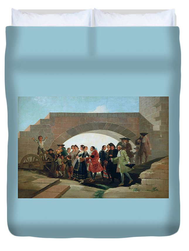 Celebrating Duvet Cover featuring the painting The Wedding by Francisco Goya