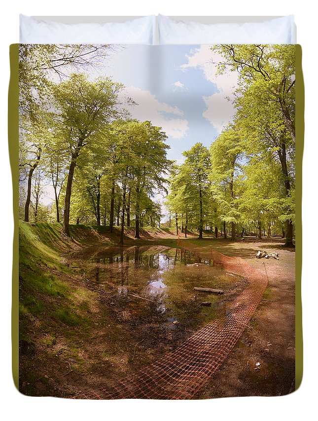 Trees Duvet Cover featuring the photograph Trees by Andy Thompson
