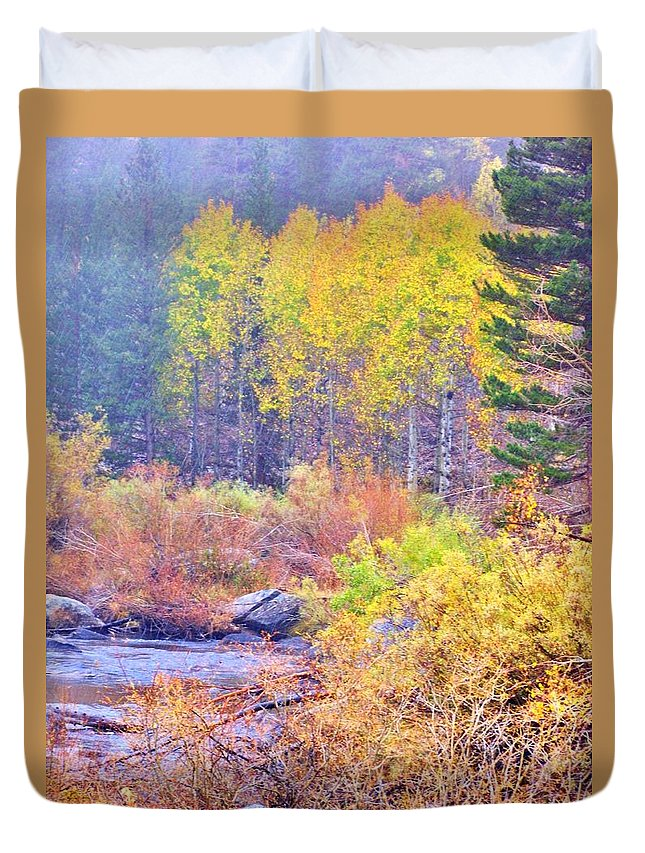Forest Duvet Cover featuring the photograph Turning by Marilyn Diaz