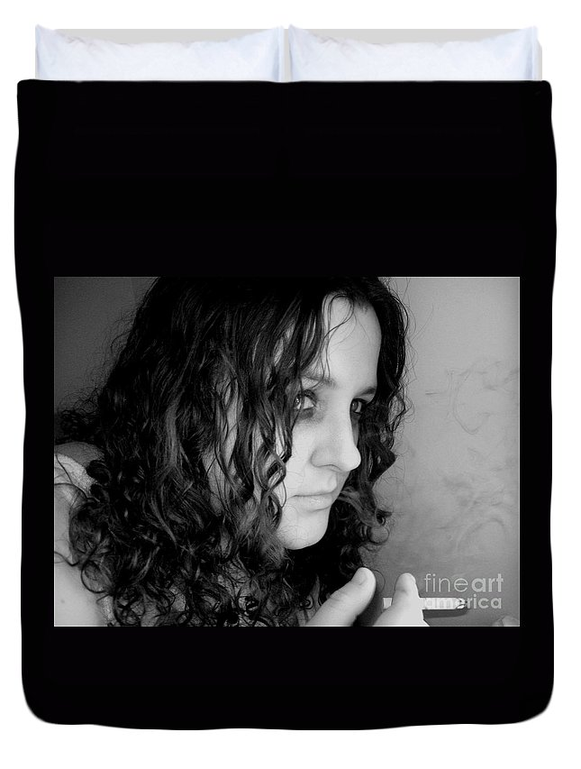 Ciggerette Duvet Cover featuring the photograph Untitiled by Meghann Brunney