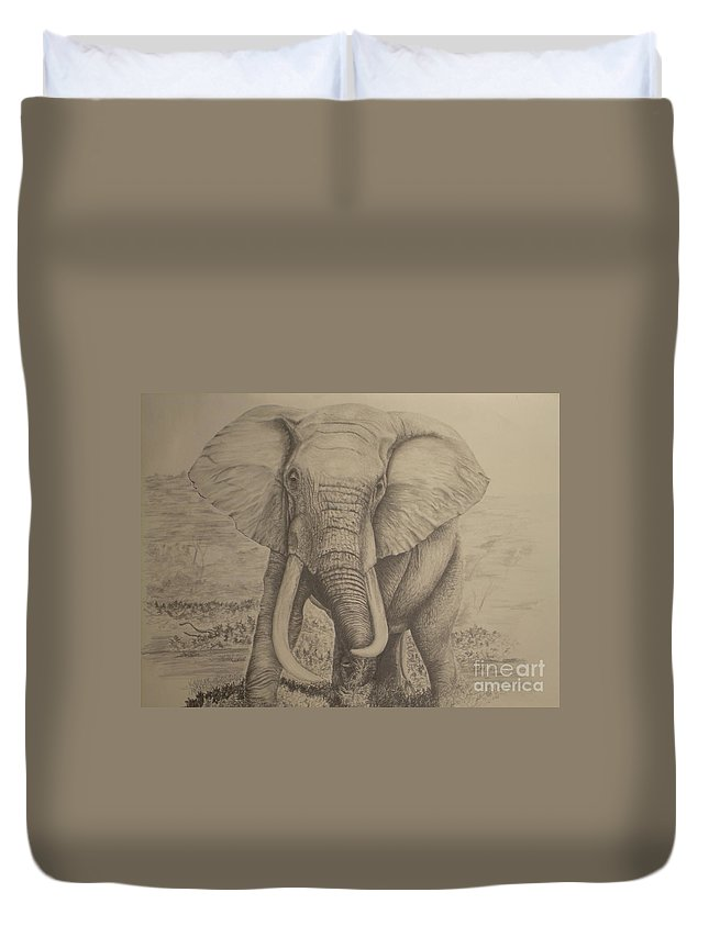 Wildlife Duvet Cover featuring the drawing Untitled by John Huntsman