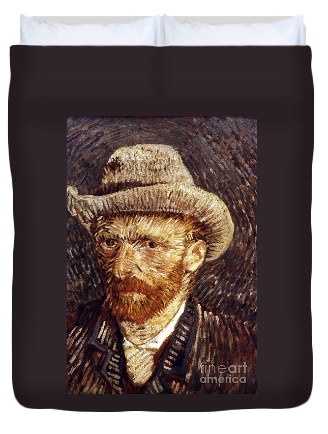 1887 Duvet Cover featuring the photograph Vincent Van Gogh by Granger
