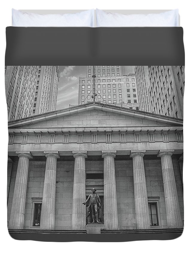 Street Duvet Cover featuring the photograph Wall Street 2 by Martin Newman