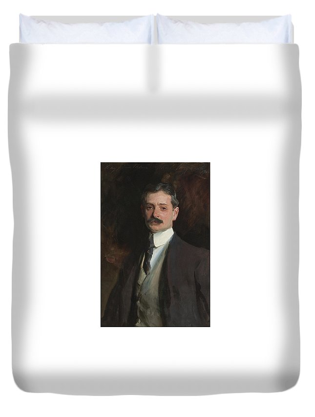 John Singer Sargent Duvet Cover featuring the painting William Thorne by John Singer
