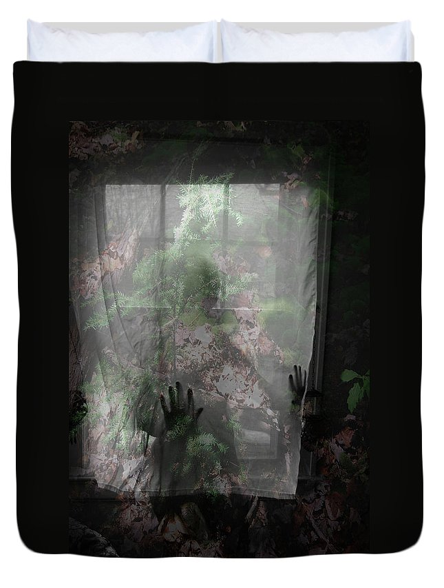 Nudes Duvet Cover featuring the photograph Window Wonder by Trish Hale