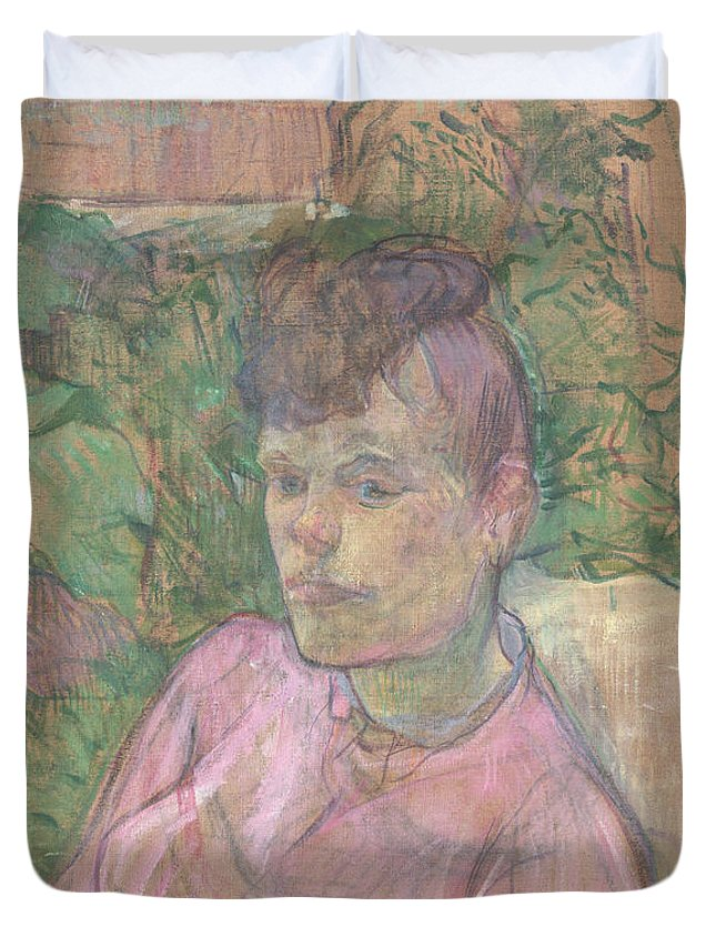 Summer Duvet Cover featuring the painting Woman In The Garden Of Monsieur Forest by Henri De Toulouse Lautrec