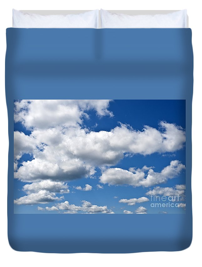 Atmosphere Duvet Cover featuring the photograph Cumulus Clouds by Jim Corwin