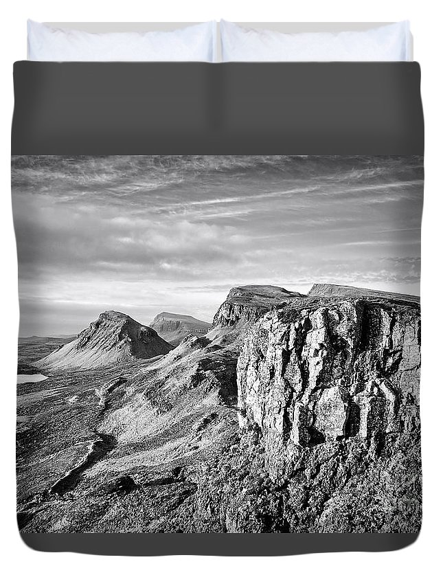 Quiraing Duvet Cover featuring the photograph The Quiraing by Smart Aviation