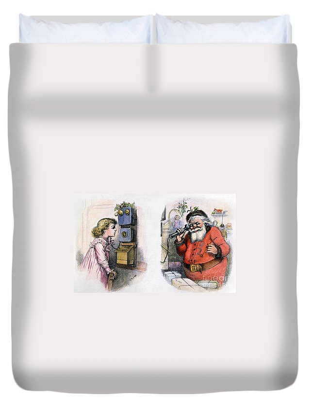 1884 Duvet Cover featuring the photograph Thomas Nast: Santa Claus by Granger