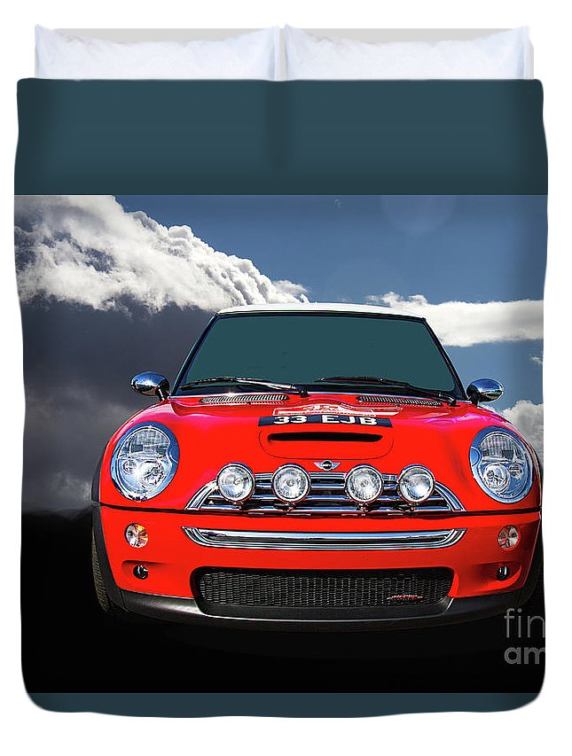 2004 Duvet Cover featuring the photograph 2004 S Mini Cooper by Nick Gray