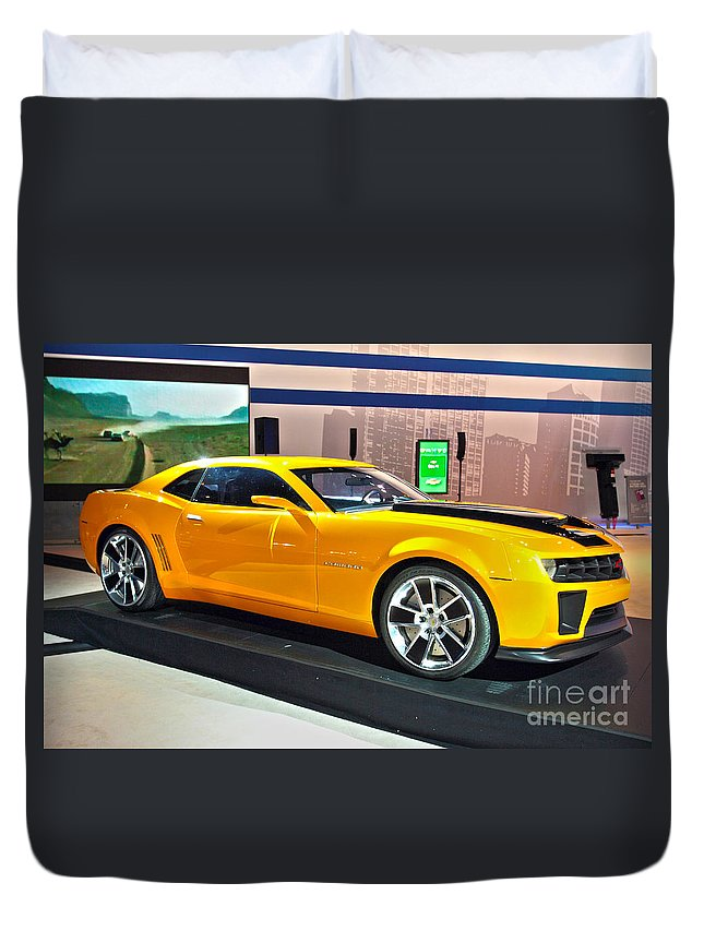 Automotive Duvet Cover featuring the photograph 2010 Chevrolet Camaro by Alan Look