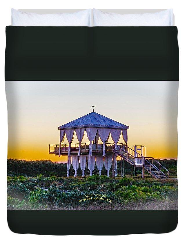 Seascape Duvet Cover featuring the photograph 2015 12 19 01 A Dsc_0453 by Mark Olshefski