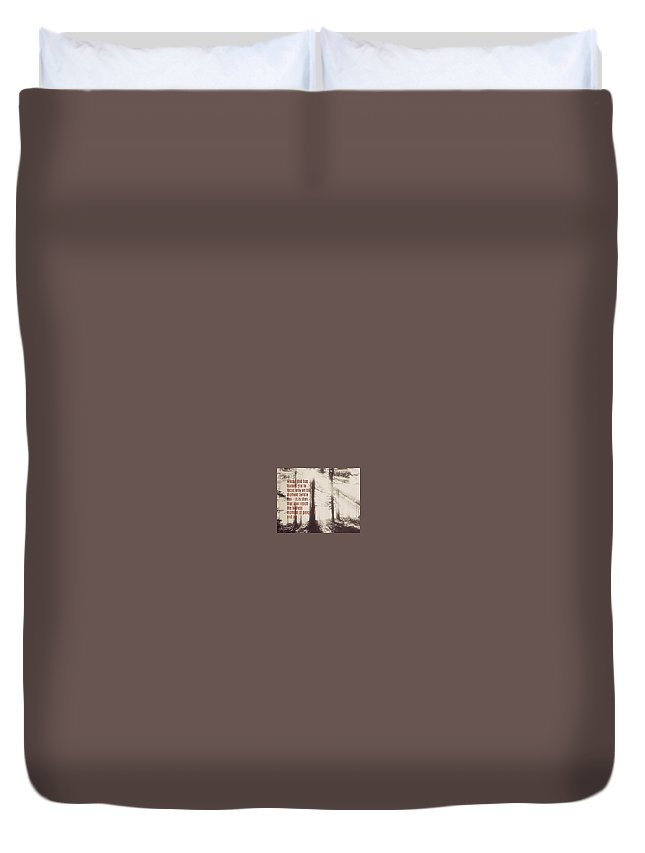 Duvet Cover featuring the photograph 2018-3q by David Norman