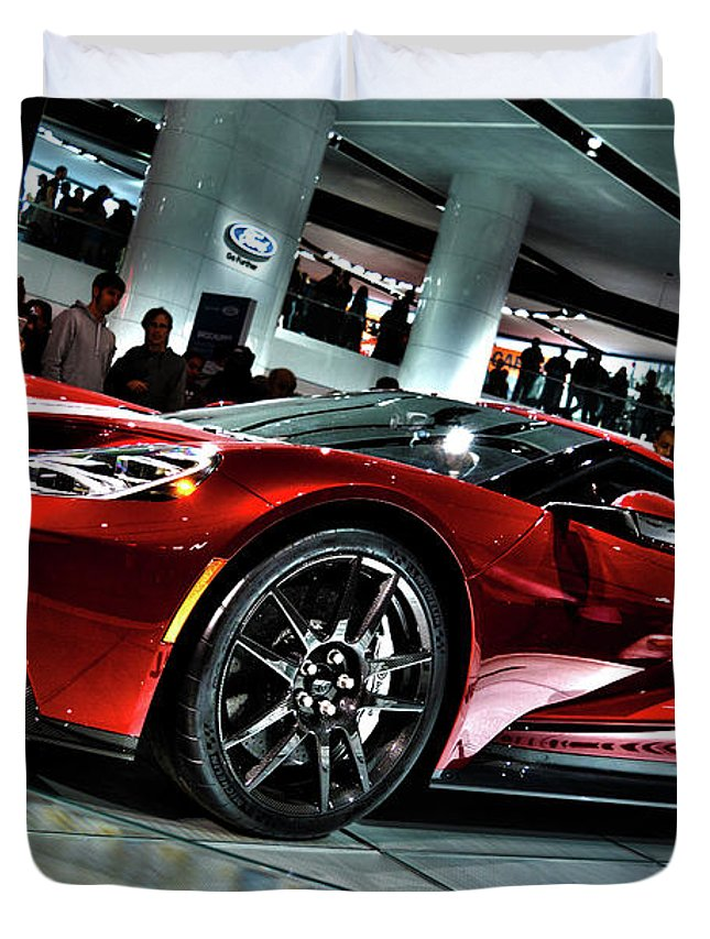 Duvet Cover Featuring The Photograph  Ford Gt  By Adam Kushion