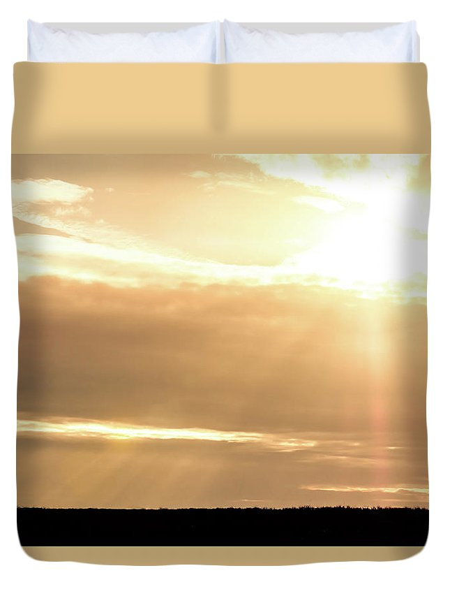 Drillers Club Duvet Cover featuring the photograph 2018_02_pecos Tx_cactus 153 1 by Brian Farmer