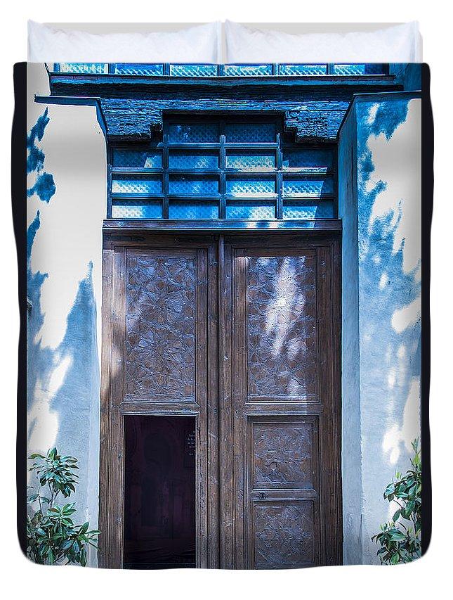 Door Duvet Cover featuring the photograph Doors by Jon Berghoff