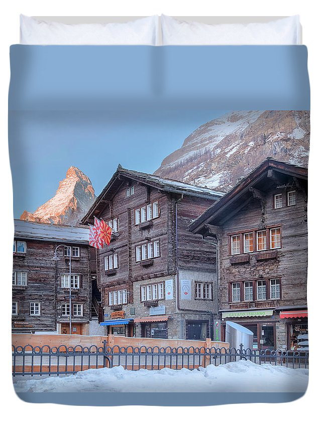 Matterhorn Duvet Cover featuring the photograph Zermatt - Switzerland by Joana Kruse