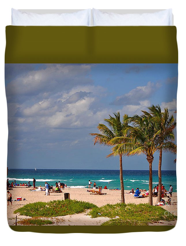 Singer Island Duvet Cover featuring the photograph 23- A Day At The Beach by Joseph Keane