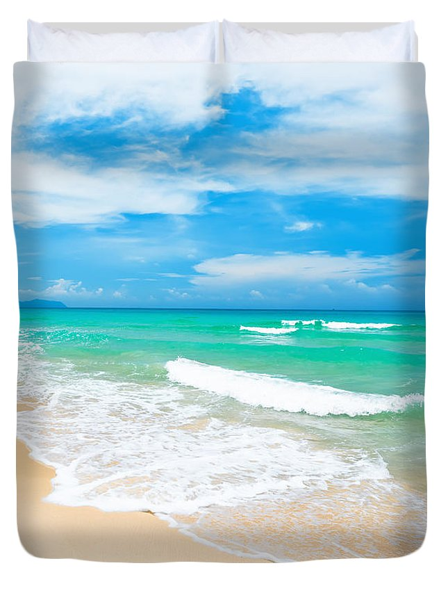 Beach Duvet Cover featuring the photograph Beach by MotHaiBaPhoto Prints