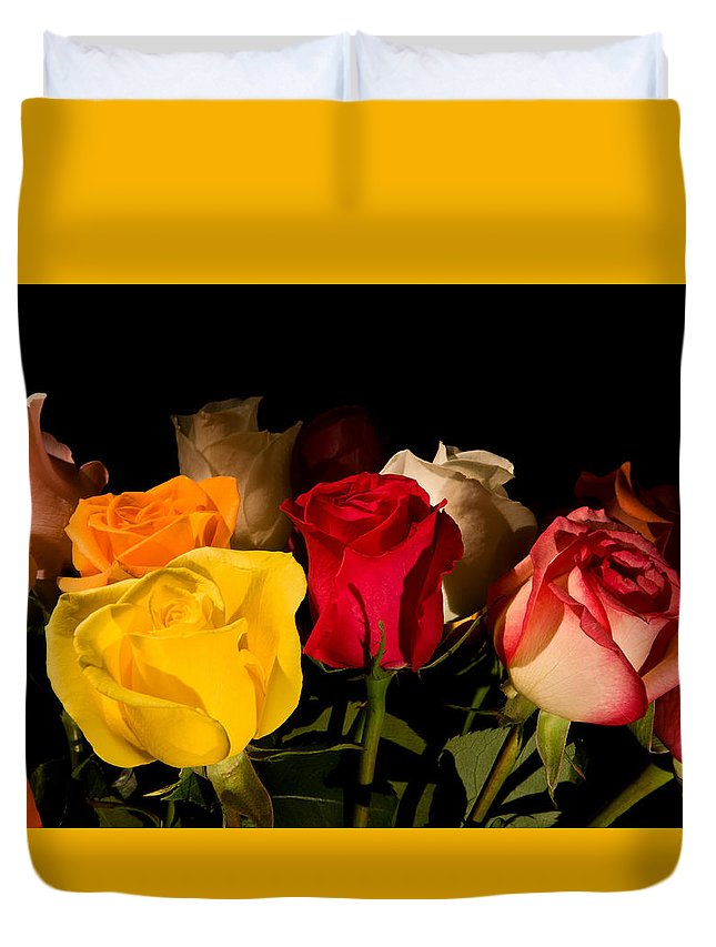 Old Duvet Cover featuring the photograph Bouquet by Avril Christophe