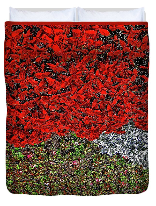 Flower Carpet Duvet Cover featuring the photograph Flower Carpet. by Andy Za