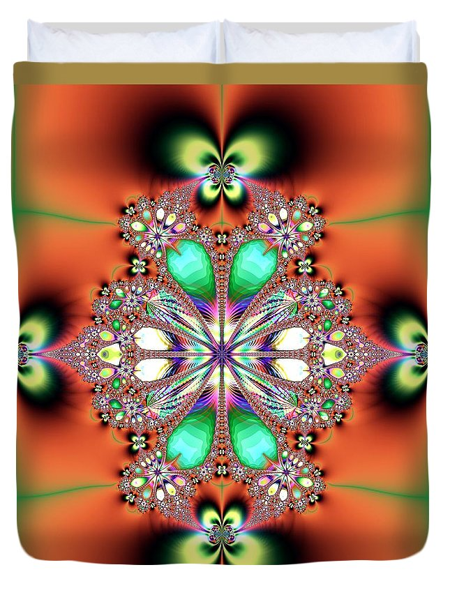 Fractal Duvet Cover featuring the digital art Fractal Art by Mauri Hanhisuanto