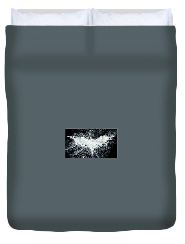 Batman Duvet Cover featuring the digital art The Dark Knight Rises 2012 23 by Geek N Rock