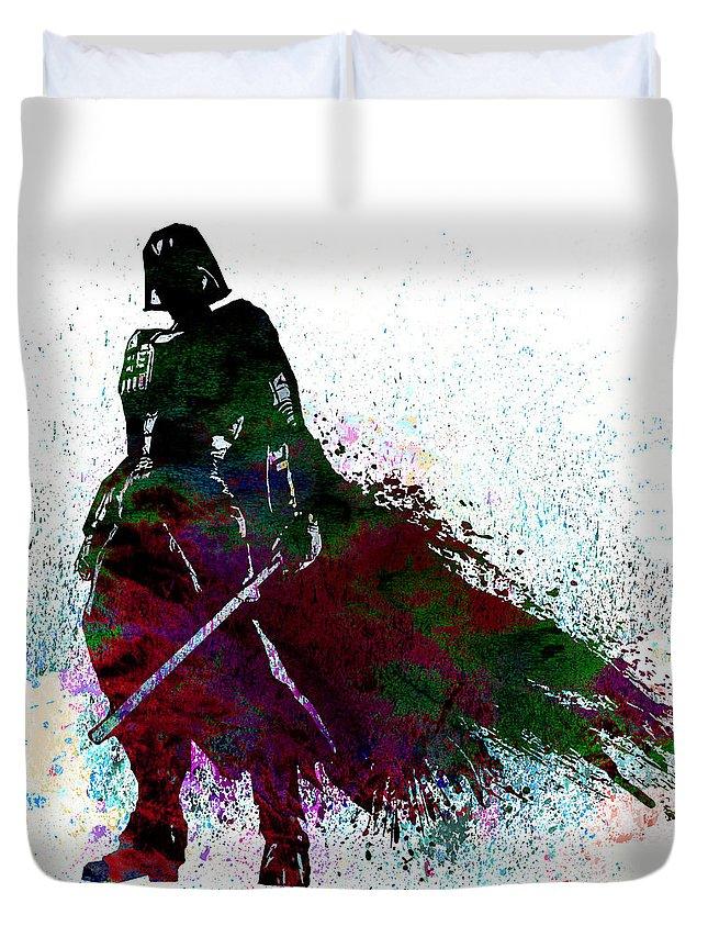Star Wars Duvet Cover featuring the digital art Star Wars by Elena Kosvincheva