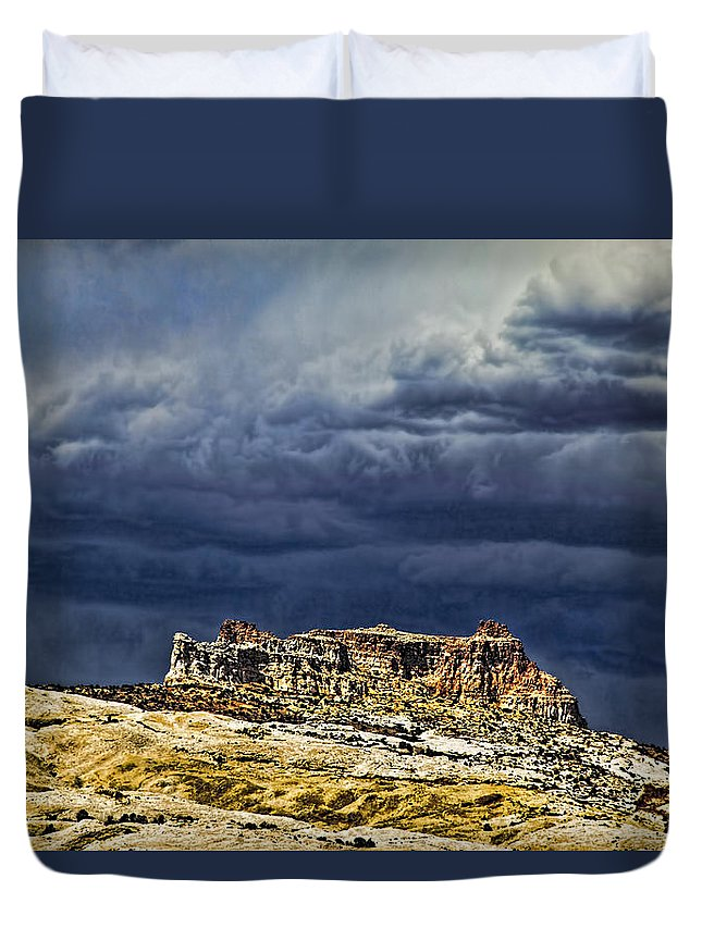 San Rafael Swell Duvet Cover featuring the photograph San Rafael Swell by Mark Smith