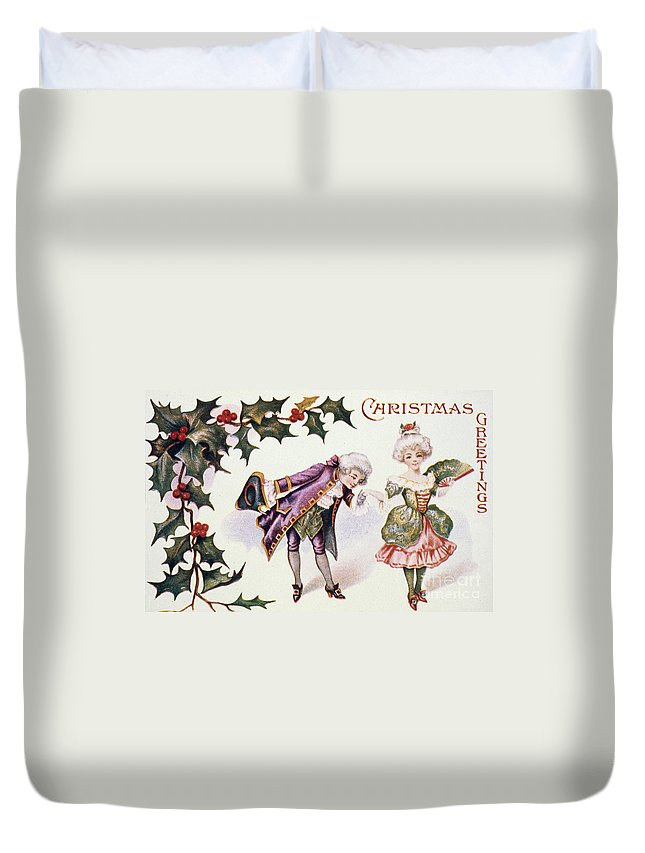 19th Century Duvet Cover featuring the photograph American Christmas Card by Granger