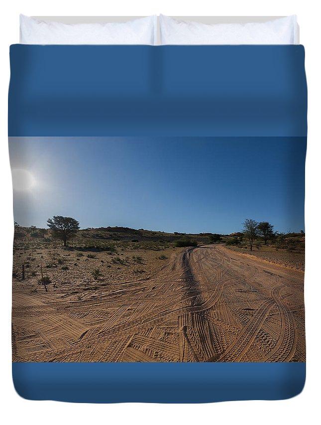 Kgalagadi Duvet Cover featuring the photograph Kgalagadi by Davide Guidolin