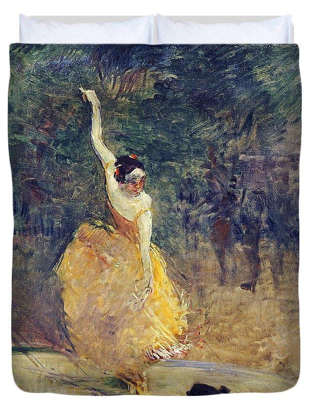 Flamenco Duvet Cover featuring the painting Lautrec by Henri De Toulouse